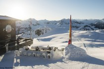Skigebiet Kitzbuehel Sonnenaufgang