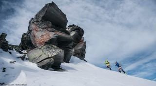 Michaela Essl beim Skitourengehen