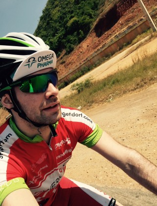 Emanuel beim Rennradfahren