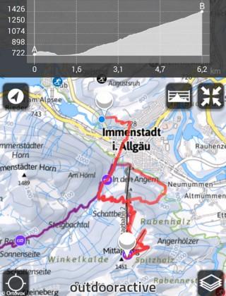 Bergtouren App Karte Ortovox