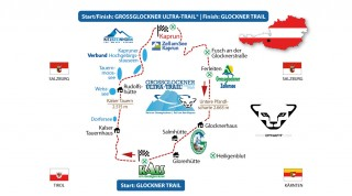 Streckenverlauf Grafik Grossglockner Ultra-Trail