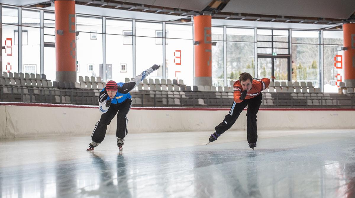 Eisschnelllaufen Max Aicher Arena
