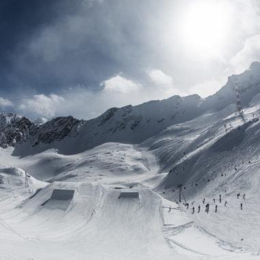 Skigebiet perfekte Piste