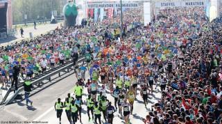 Begeisterte Läufer beim Marathon in Linz