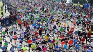 Start aller Teilnehmer Linz Marathon