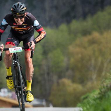 Rennradfahrer beim Peak to Creek