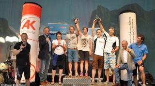 Siegerehrung Salzburger Firmen Triathlon