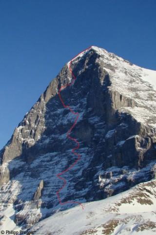 Kletterroute Eiger Nordwand