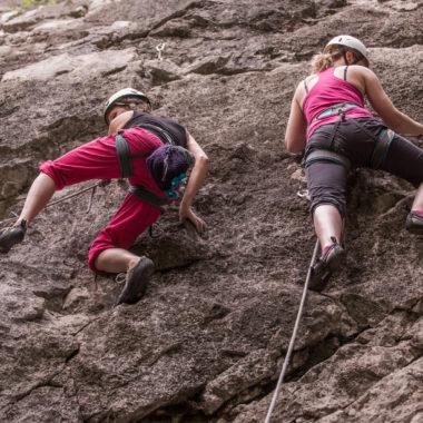 Erste Berührungen mit den Routen am Fels