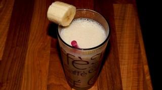Bananenmilch im Glas