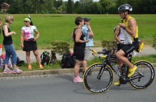 Auf der Radstrecke des Ironman