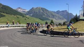 Kehre-im-Radrennen