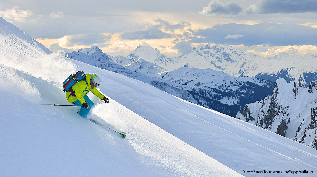 Skifahren am Arlberg