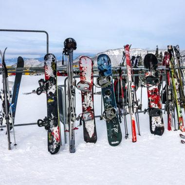 Skiverleih-Skier