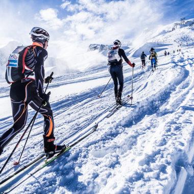 Skitourengehen-Piste