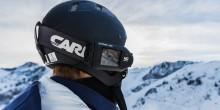 Helmkamera-Skifahren