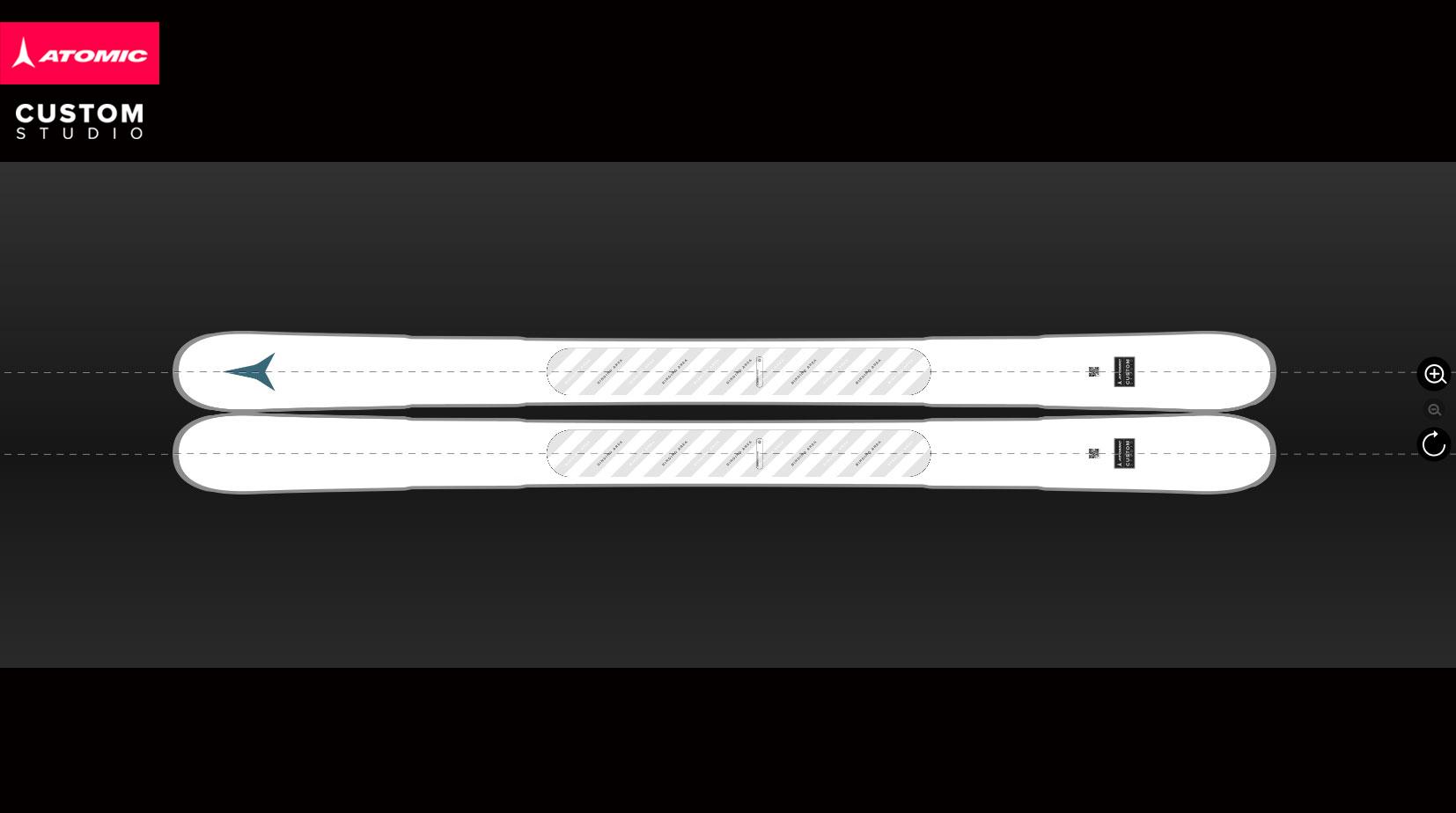Custom-Design-Ski- adaptiert