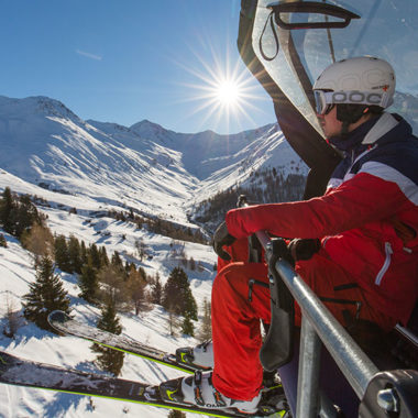Sessellift im Skigebiet Nauders