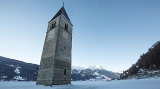 Kirchturm in Reschensee