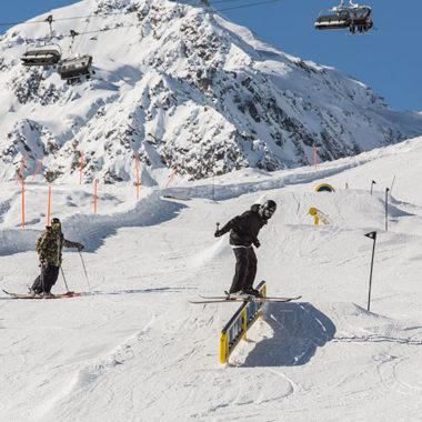 Snowpark im Skigebiet Serfaus-Fiss-Ladis
