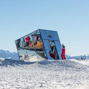 Cube im Skigebiet Serfaus