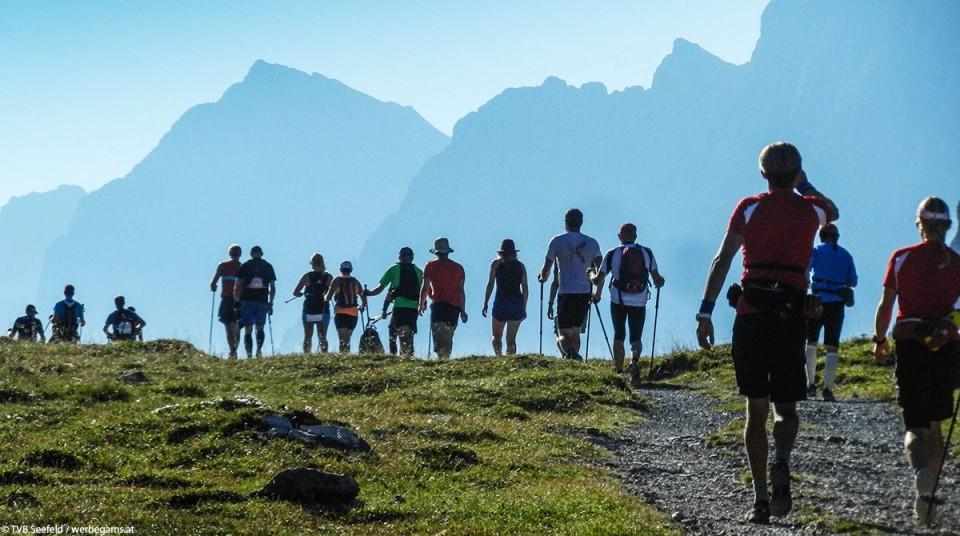 Karwendelmarsch bergsteiger läufer