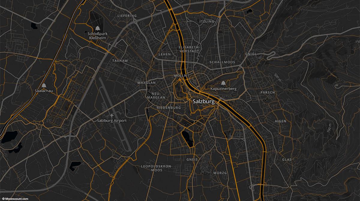 Heat map Salzburg