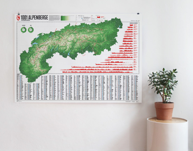 Karte Alpen Berge