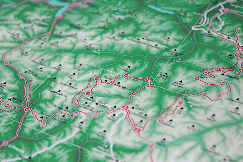 Landkarte Alpen