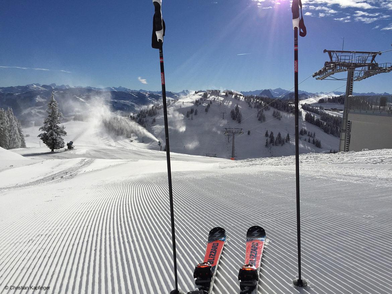 Skifahren am Wilden Kaiser