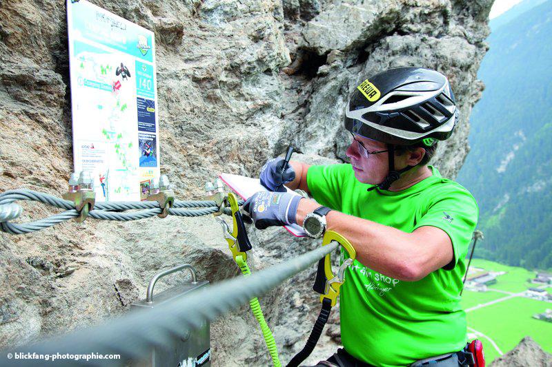 Klettersteig Nasenwand : Klettersteiggehen in mayrhofen