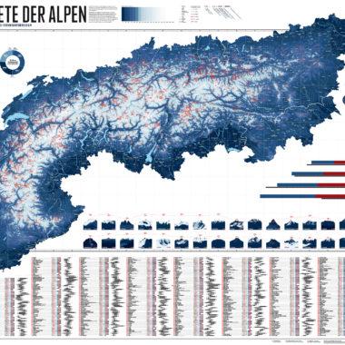 Karte Skigebiete Alpen