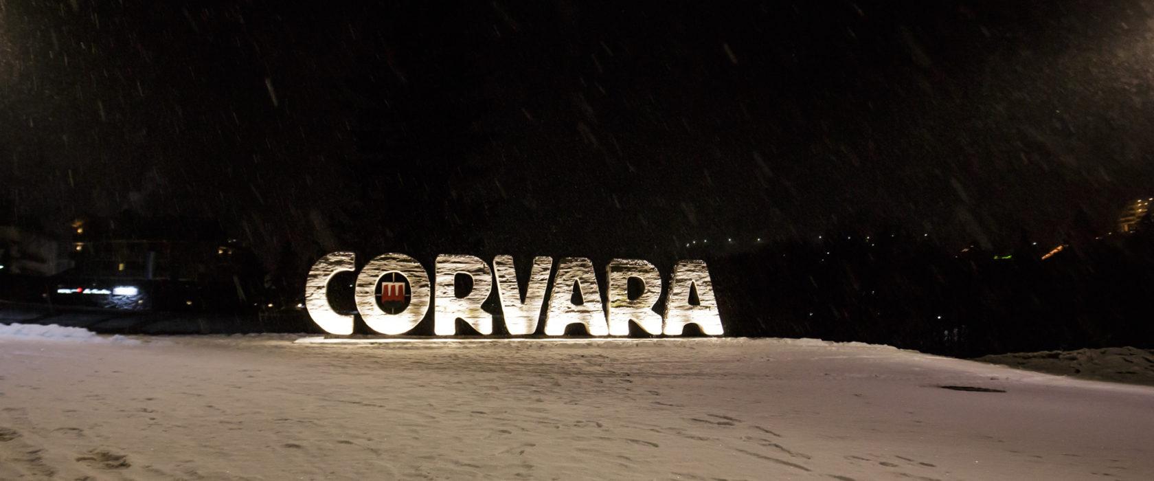 Corvara Schriftzug