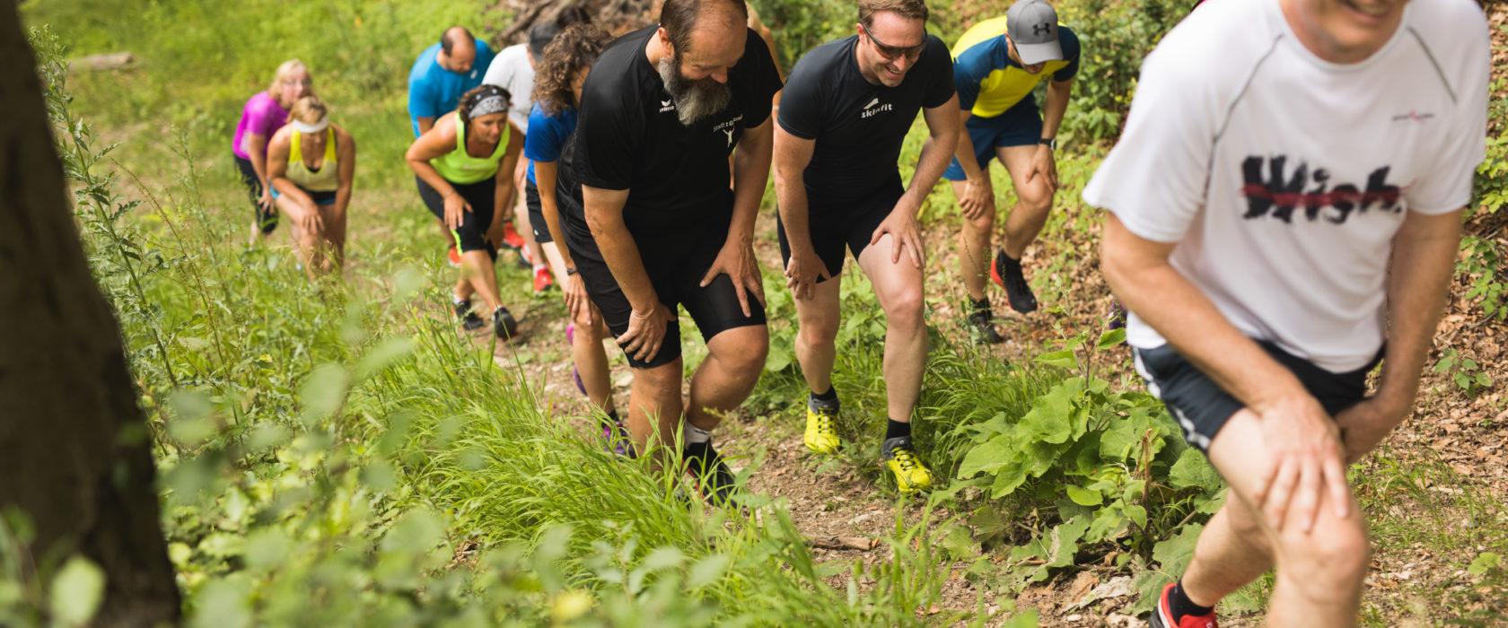 aufstieg technik trailrunning