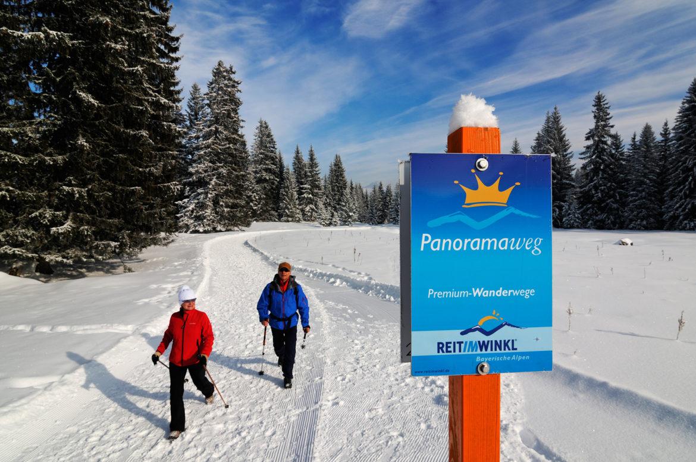 premium winterwanderweg reit im winkl
