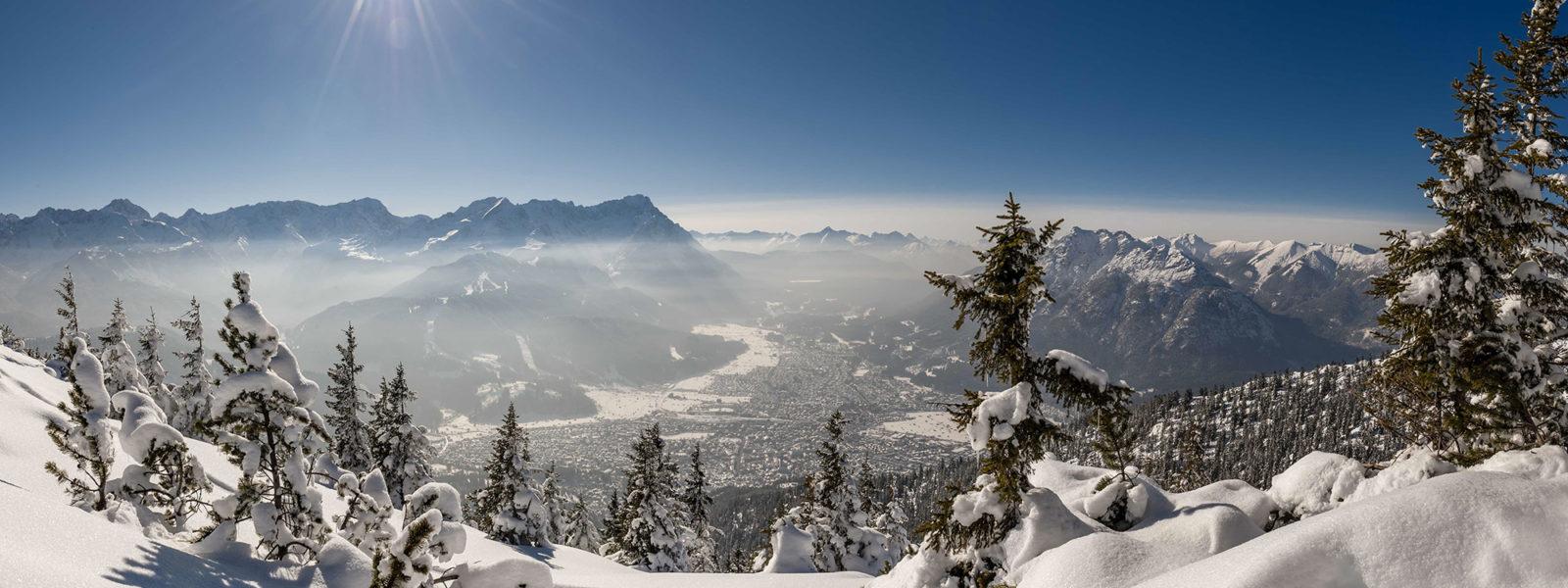 winterwandern bayern zugspitze