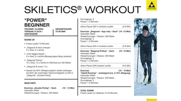 Workoutplan skiletics