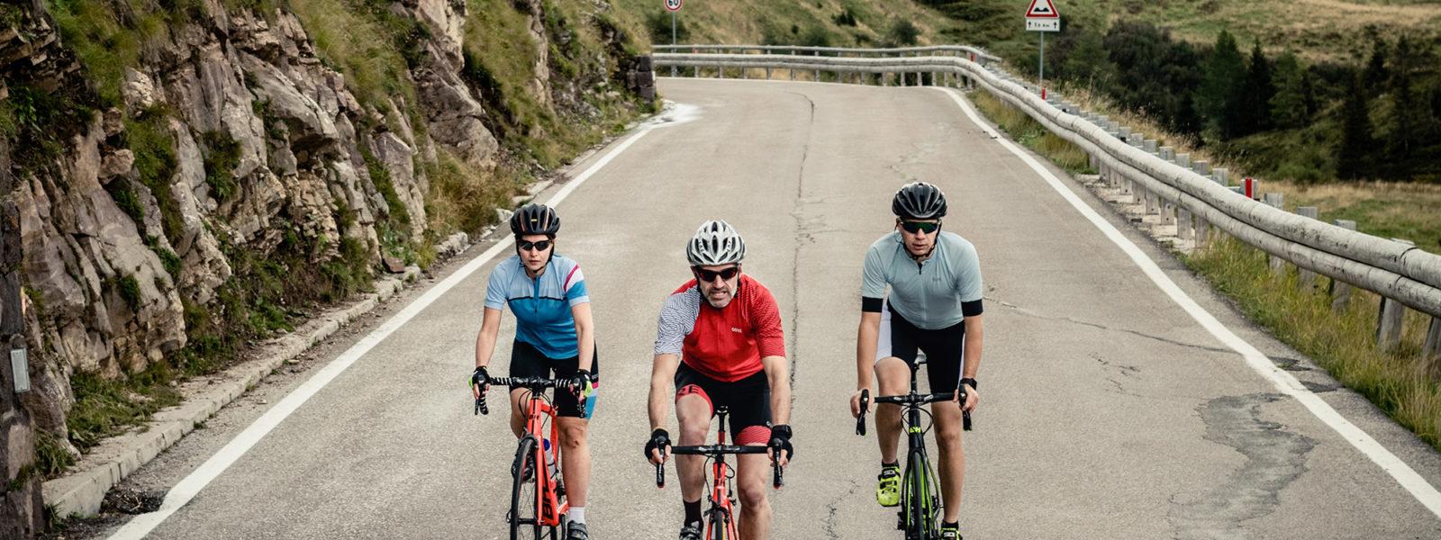Obereggen-Rennradfahrer