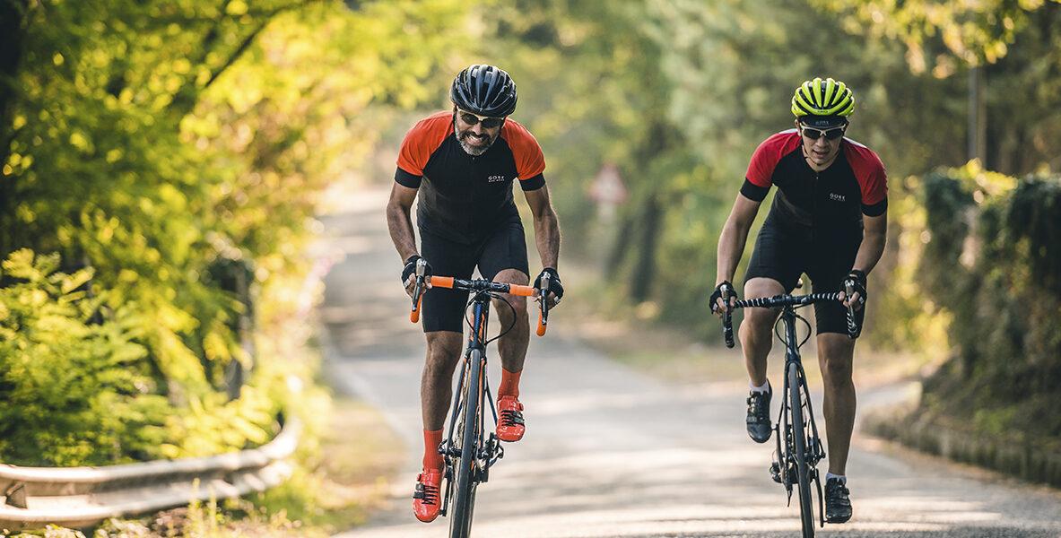 Rennradfahrer im Urlaub