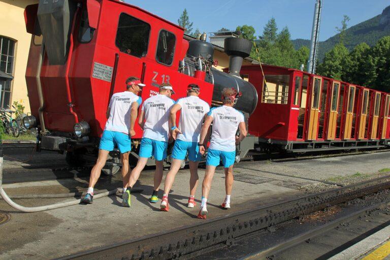 schafbergbahn zug läufer