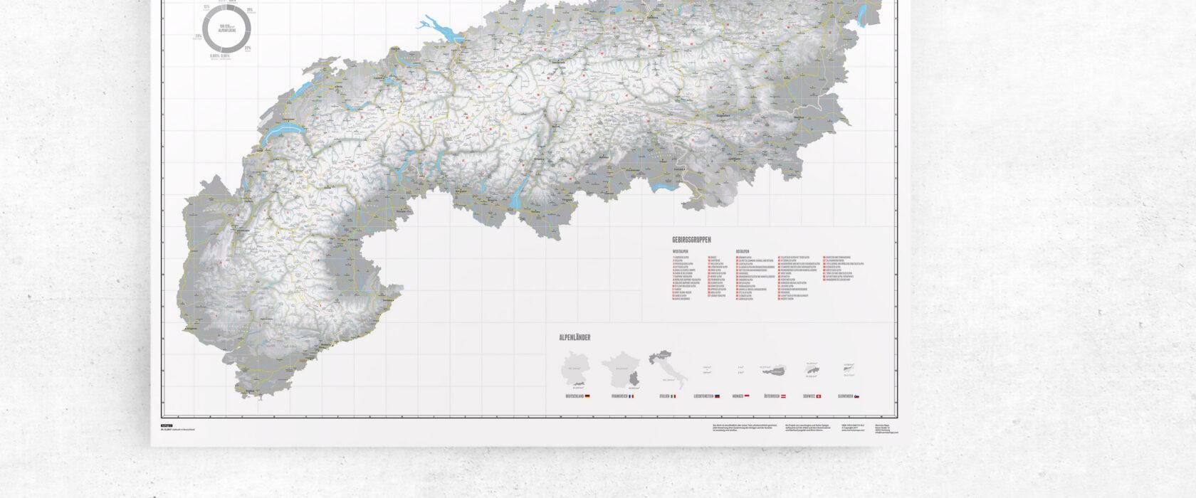 landkarte zum einzeichnen alpen