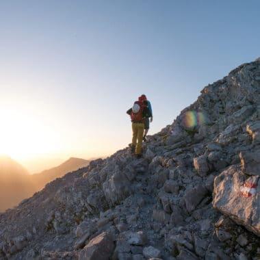 sonnenuntergang-klettersteiggehen