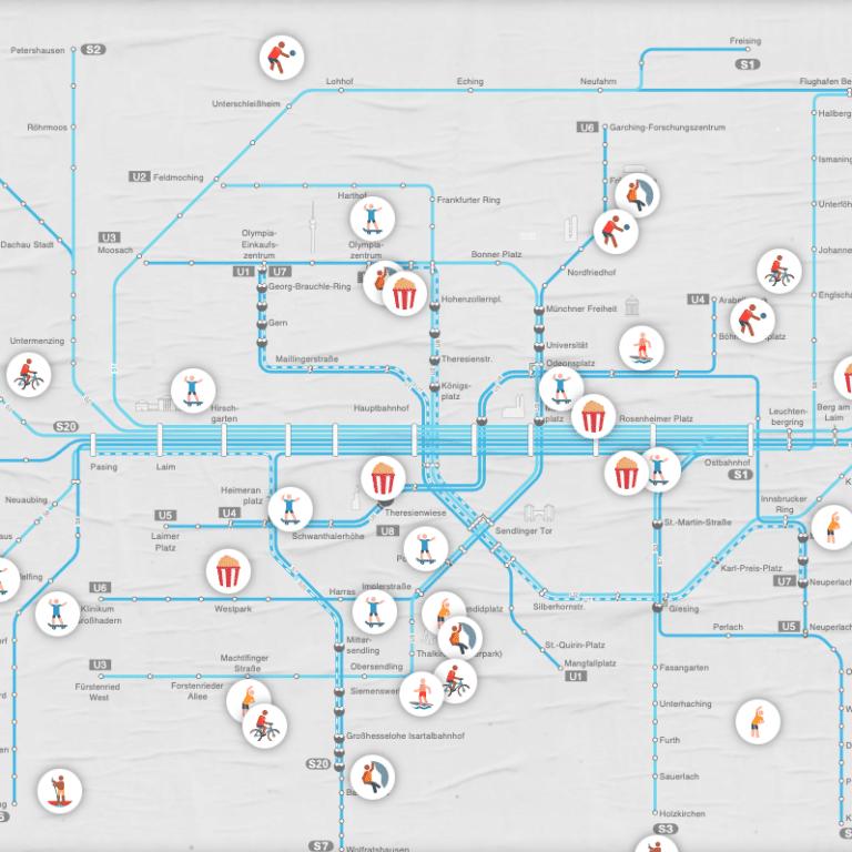 München interaktive Karte Outdoor Sport