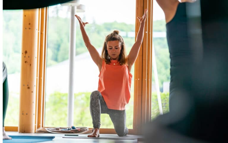 Yoga-Übungen Läufer